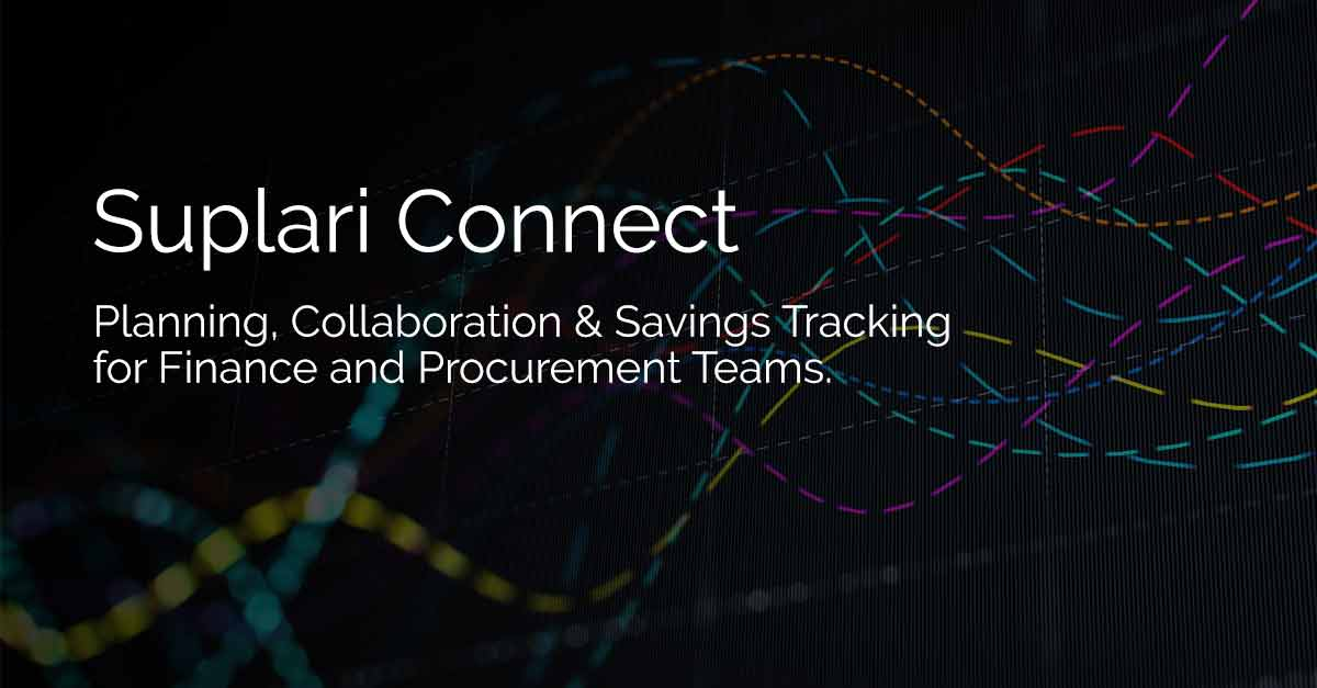 Suplari Connect – Planning, Collaboration & Savings Tracking for Finance and Procurement Teams